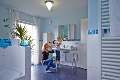 Gerade im Badezimmer kommt es auf eine gute Lüftung an